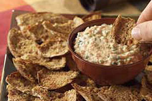 Spicy Pita Chips and Dip Image 1