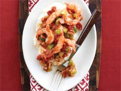 Spicy Shrimp & Mashed Hominy Image 1