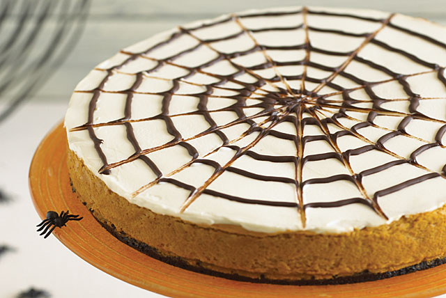 Spider Web Pumpkin Cheesecake Image 1