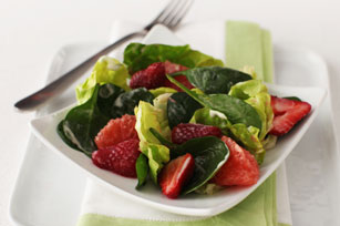 Spinach-Fruit Salad with Lime Dressing