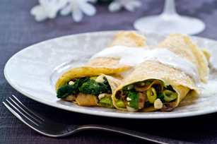 Spinach & Mushroom Crepes Image 1