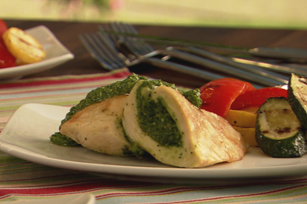 Spinach Pesto-Stuffed Grilled Chicken Image 1