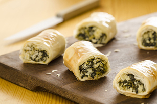 Spinach Phyllo Roll-Ups Made Over