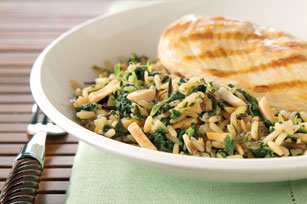 Spinach-Rice with Almonds