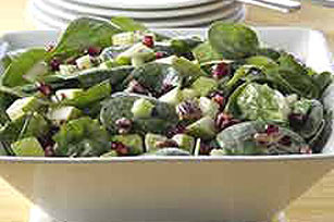 Spinach Salad with Apples and Pomegranate Seeds Image 1