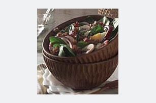Spinach Salad with Warm Balsamic Walnut Dressing Image 1
