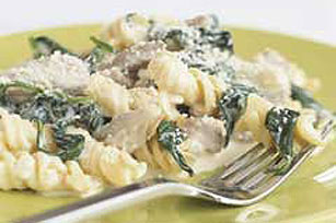 Spinach and Pork Tenderloin Pasta Toss