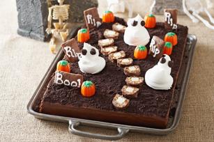 Gâteau cimetière effrayant