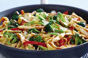 Spring Stir-Fry in Peanut Sauce Recipe