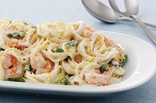 Springtime Shrimp Pasta Toss
