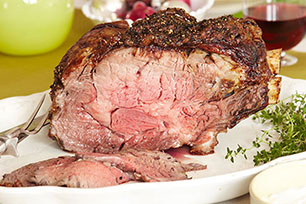 Standing Rib Roast with Two Sauces