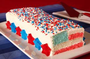 Star-Spangled Flag Cake Image 1