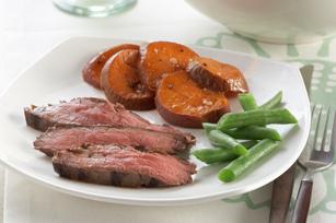 Bifteck et patates douces
