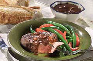 Steak with Bacon Sauce