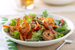 Stir-Fry Shrimp Salad