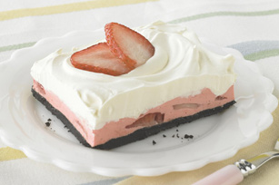 Strawberry Mousse Squares