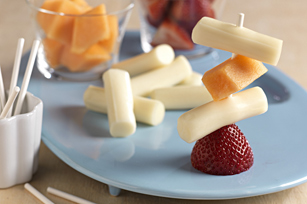 String Cheese & Fruit Stacks