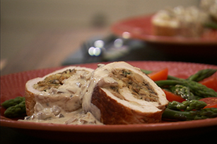 Stuffed Pork with Sherry-Mushroom Sauce Image 1