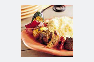 Summer Mixed Vegetable and Beef Kabobs