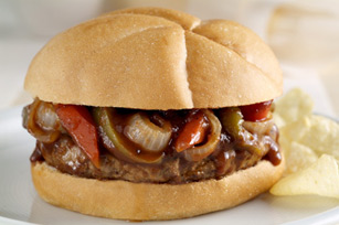 Pepper & Onion Burger