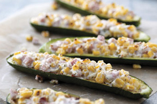 Sweet Corn-Stuffed Zucchini