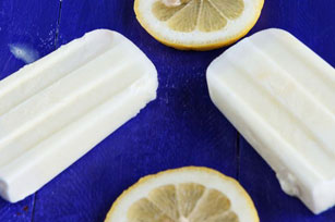 Sweet and Creamy Lemonade Ice Pops