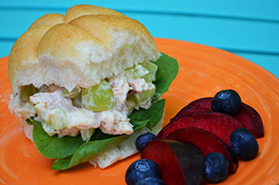 Sweet and Crunchy Chicken Salad Sandwiches Image 1