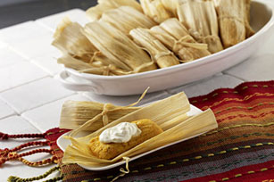 Sweet Potato & Mozzarella Tamales Image 1