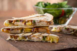 Sweet & Spicy BBQ Quesadillas