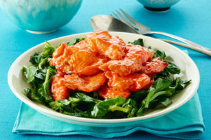 Sweet & Tender Fish with Greens