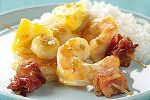 Sweet 'N Sour Shrimp & Bacon Kabobs