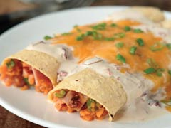 Sweet Potato Enchiladas in Creamy Chipotle Sauce Image 1
