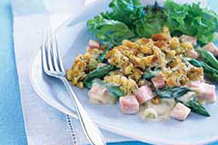 Swiss Cheese, Ham and Asparagus Bake Image 1