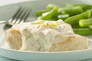 Swordfish with Leek Cream