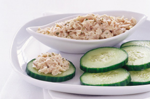 Tasty Tuna Salad & Cucumber Chips