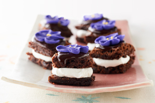 Brownies con crema de chocolate