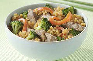 Teriyaki Steak and Brown Rice Image 1