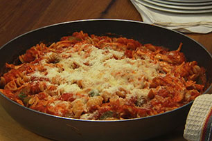 Three-Cheese Chicken & Pasta Skillet
