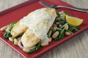 Tilapia Fillets with White Bean & Spinach Salad Image 1