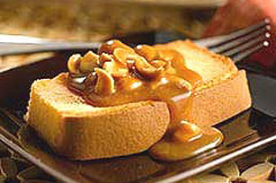 Toasted Pound Cake with Nutty Caramel Sauce Image 1