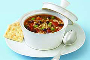 Tomato-Black Bean Barley Soup
