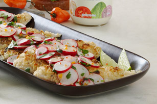 Tortilla-Crusted Fish with Radish Salad