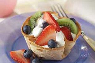 Tacitas de tortilla con frutas Image 1