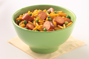 Triple-Cheese Hot Dog Mac