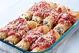 Triple-Cheese Spinach Manicotti
