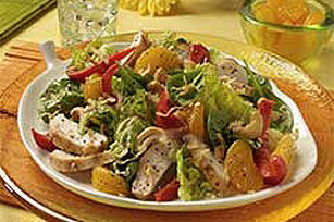 Polynesian Chicken Salad with Baby Spinach Image 1