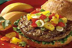 Tropical Salsa Burgers