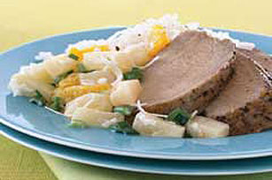 Cerdo con salsa tropical Image 1