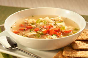 Sopa de pavo con arroz