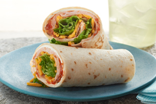 Creamy Salsa Turkey Tortilla Wrap Image 1
